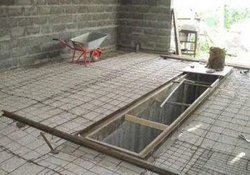 Заливка бетонного пола в гараже своими руками