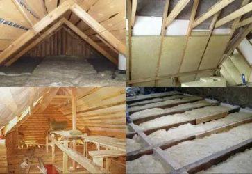 Чем утеплить крышу бани при постройке?